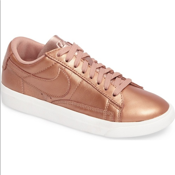hot sale online db39a 78d7a Nordstrom x Nike Blazer Low LE in Rose Gold. M5ab6420c61ca1022bc97dd36